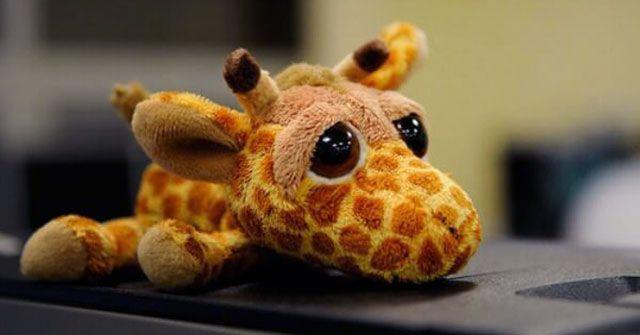 Грустный жираф - мягкая игрушка