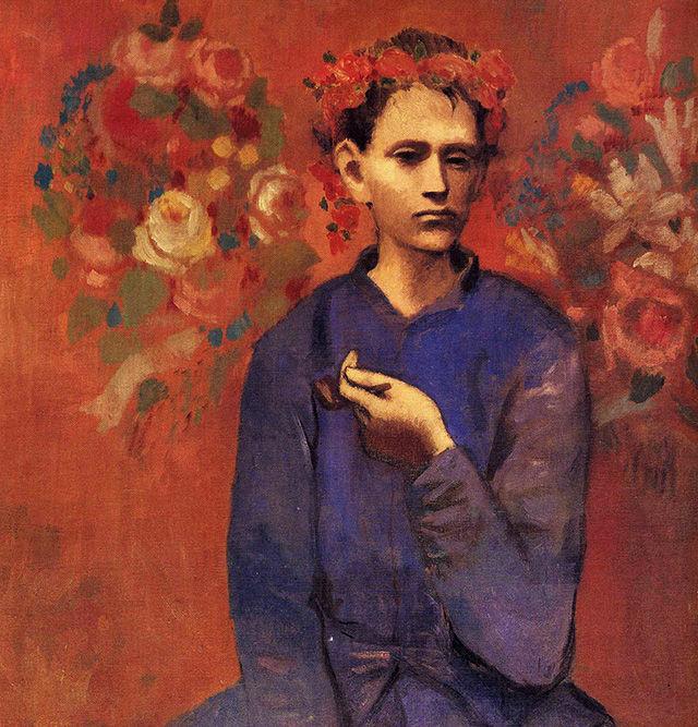 Картина Пабло Пикассо – Мальчик с трубкой