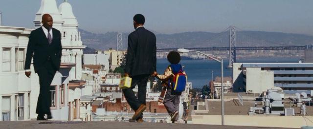 Крис Гарднер в последней сцене фильма В погоне за счастьем