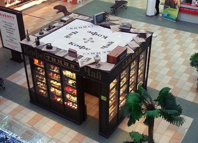 Киоск по продаже чая в торговом центре