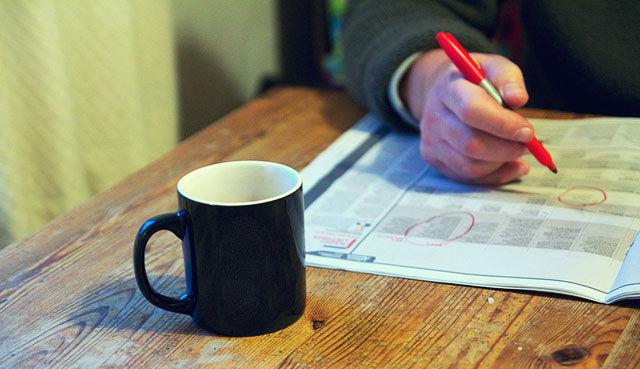 Поиск работы в объявлениях в газетах