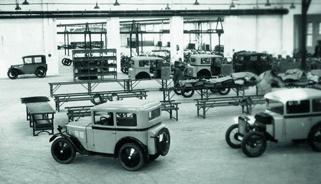 Производство Dixi на заводе BMW