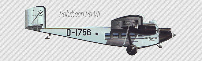 Самолет Rohrbach Ro VII