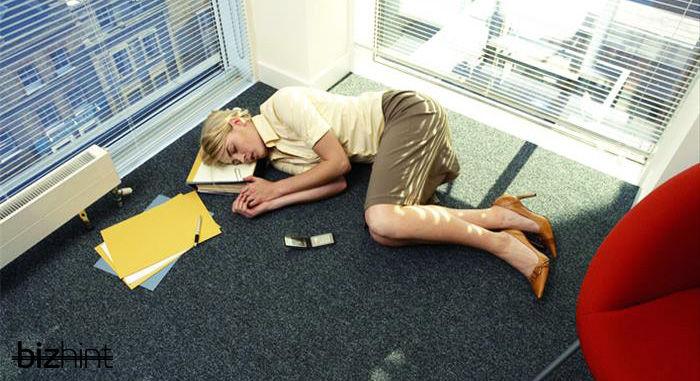 Сон в офисе