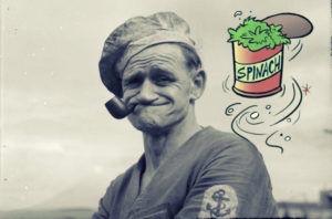 Моряк Папай: реклама шпината