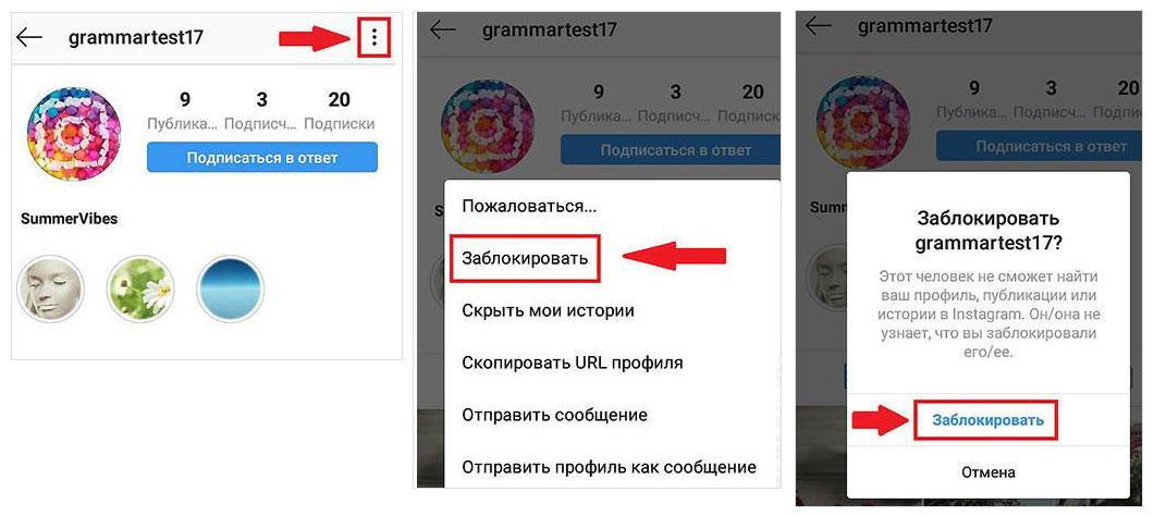 Блокировка пользователя, чтобы не получать больше сообщений