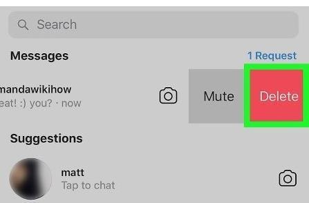 Выборочное удаление сообщений в Инстаграм