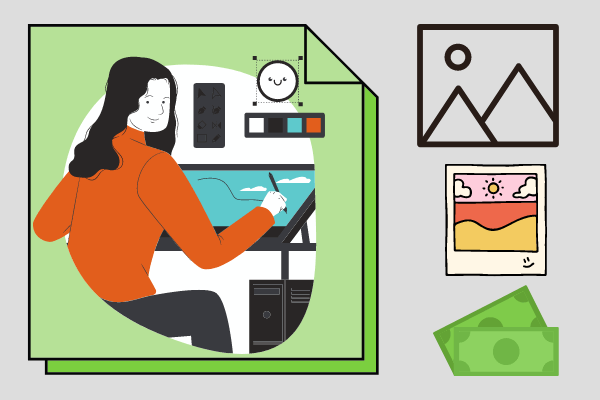 как заработать деньги в интернете школьнику создавать изображения
